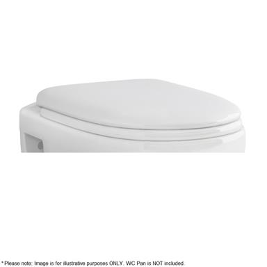 PlumbForLess Ivo Round Soft Close Toilet Seat and Cover, Quick Release, White