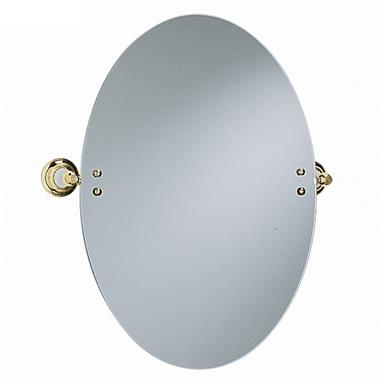 Heritage Clifton Oval Swivel Mirror Vintage Gold, ACA17