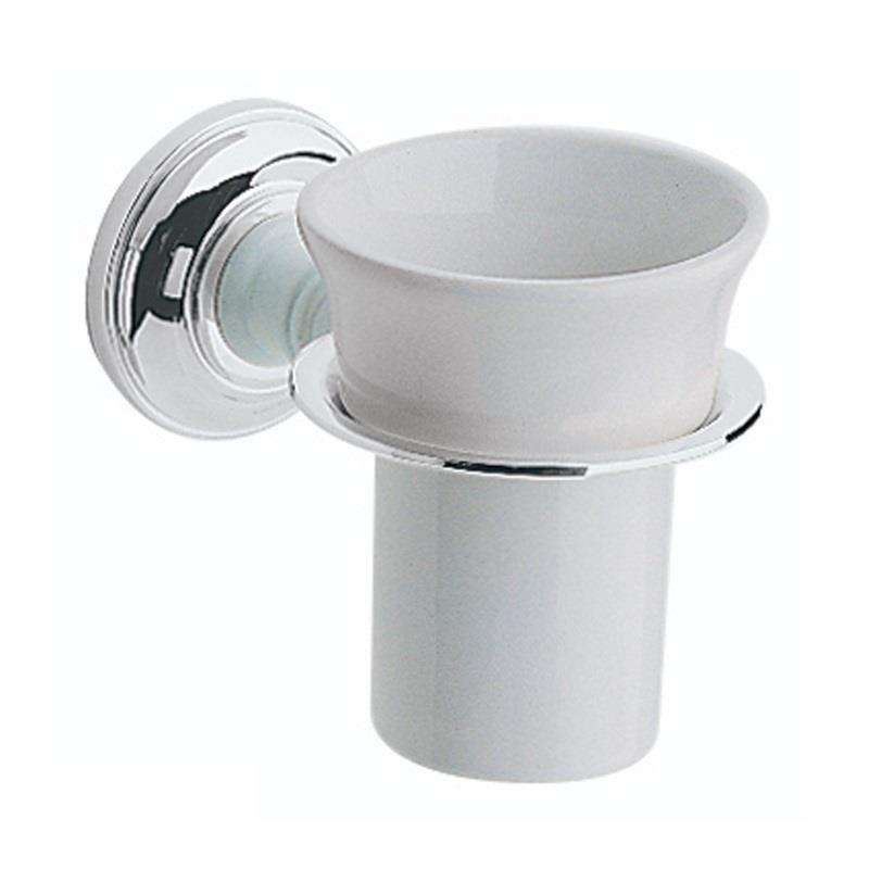 Heritage Bathroom Accessories: Heritage Clifton Holder With Tumbler Chrome Plated, ACC03