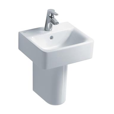 IDEAL STANDARD Concept Cube 40cm 1 TH Handrinse Basin and Semi-Pedestal E803101