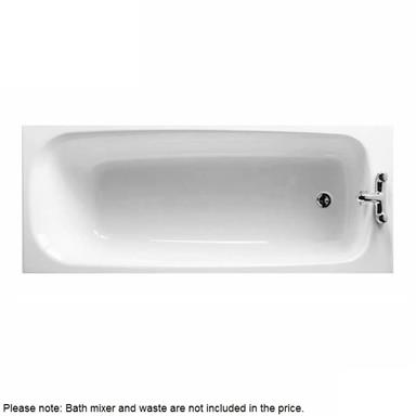 SHIRES Balmoral 1700mm 2 TH Acrylic Bath White, E099001