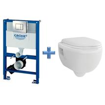 GROHE 38773 Concealed Cistern Kit Frame c/w Wall Hung Toilet Pan