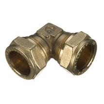 22MM BRASS COMPRESSION ELBOW