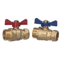 Hep2O Composite Manifold 22mm Isolation Valves by Wavin, 2Pk