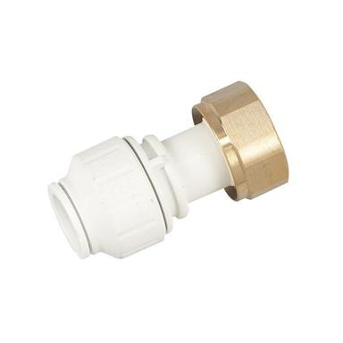"SPEEDFIT Straight Tap Connector 15mm x 3/4"" White, PEMSTC1516"