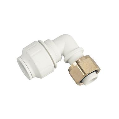 "SPEEDFIT Bent Tap Connector 15mm x 1/2"" White, PEMBTC1514"