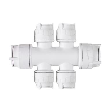 FIT4822 POLYFIT DOUBLE SIDED MANIFOLD 22MMx 4 x 10MM PORTS