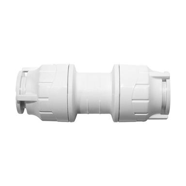 POLYPIPE PolyFit 28mm Straight Coupler, White, FIT028