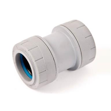 PB028 POLYPLUMB 28MM STRAIGHT COUPLER