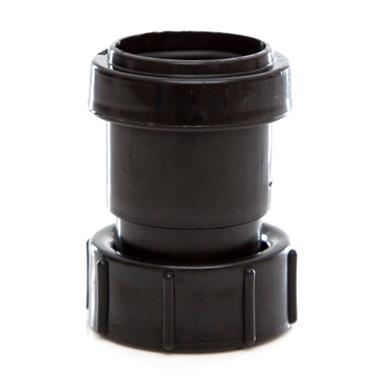 POLYPIPE Push-Fit Waste 32mm Threaded Coupling BSP Female, Black, WP31B