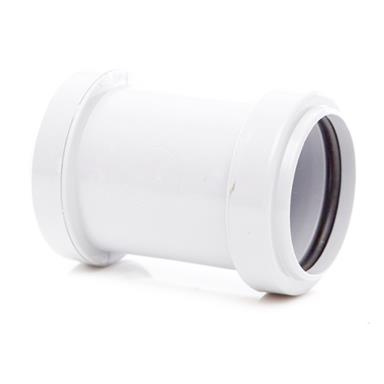 WP26 40MM PUSH-FIT STRAIGHT COUPLING WHITE