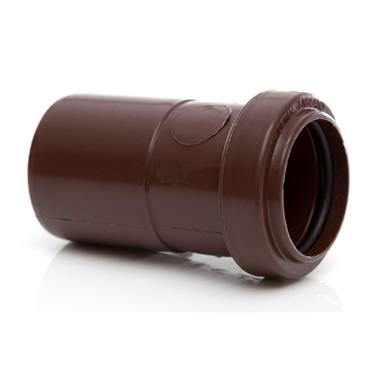 POLYPIPE Push-Fit Waste 40mm x 32mm Socket Reducer, Brown, WP27BR