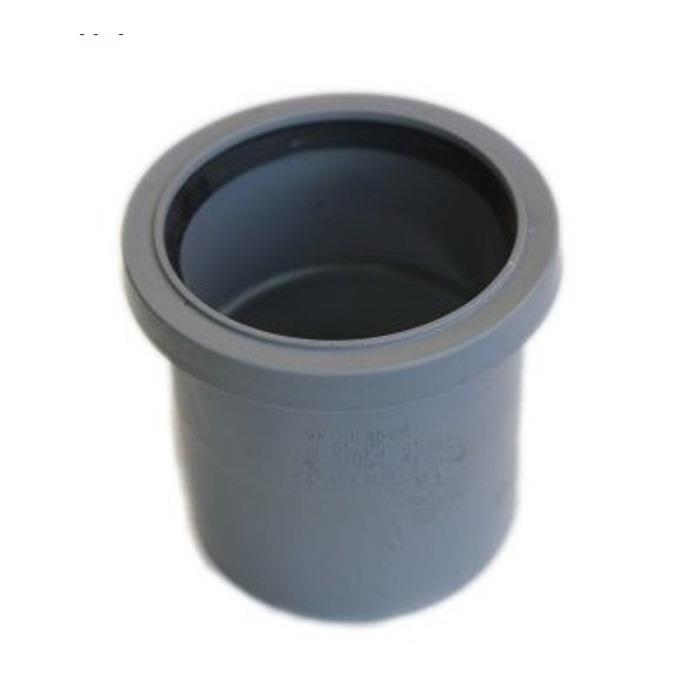 Polypipe ring seal soil and vent 82mm straight coupling for 82mm soil pipe
