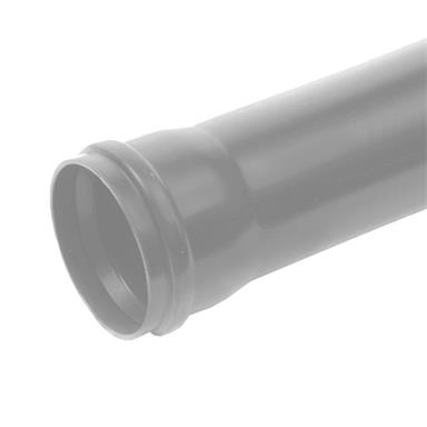 POLYPIPE 110mm Ring Seal Soil and Vent Pipe 3.0 metres, Single Socket, Grey, SP430G