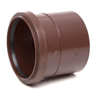 SH43 110MM POLYPIPE SINGLE SOCKET BROWN