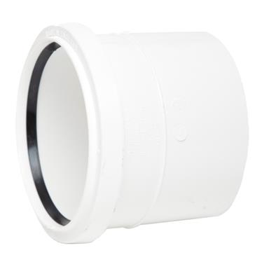 SH43 110MM POLYPIPE SINGLE SOCKET WHITE