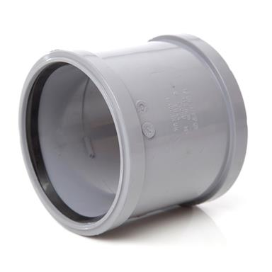 SH44 110MM POLYPIPE DOUBLE SOCKET GREY