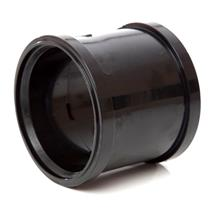 POLYPIPE 110mm Double Socket Coupling Black, SH44B