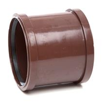 SH44 110MM POLYPIPE DOUBLE SOCKET BROWN