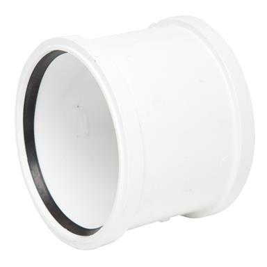SH44 110MM POLYPIPE DOUBLE SOCKET WHITE