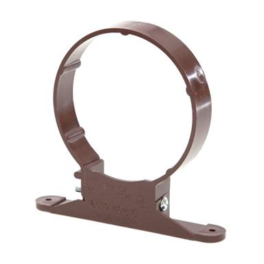 SC44 110MM POLYPIPE PIPE CLIP BROWN