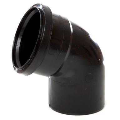 SB411 110MM POLYPIPE 112 DEGREE SINGLE SOCKET BEND BLACK