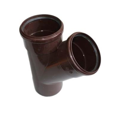 ST404 110MM POLYPIPE 135 DEGREE BRANCH BROWN
