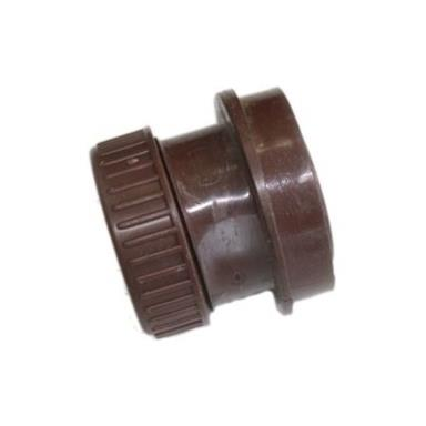 SN67 40MM POLYPIPE ANGLED BOSS ADAPTOR SOLVENT/COMP BROWN