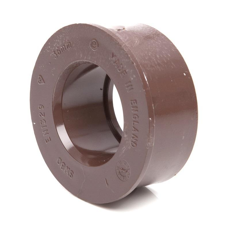 Polypipe Soil And Vent Solvent Boss Adaptor 32mm Brown