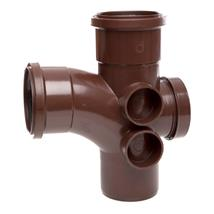 ST410 110MM POLYPIPE 92 DEGREE ACCESS BRANCH BROWN