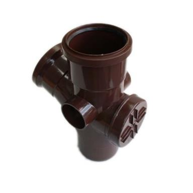 ST412 110MM POLYPIPE 112 DEGREE ACCESS BRANCH BROWN