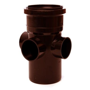 SJ454 110MM POLYPIPE BOSS PIPE REQUIRE BOSS ADAPTORS BROWN