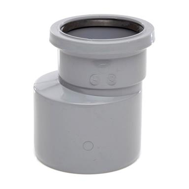 Polypipe ring seal soil and vent pipe reducer 110mm x 82mm for 82mm soil pipe