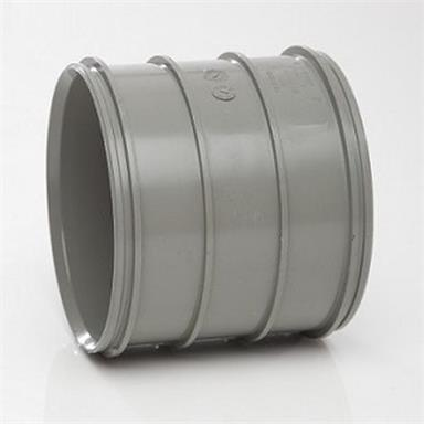 SWH16SG 110MM POLYPIPE SOLVENT PIPE COUPLER SOLVENT GREY