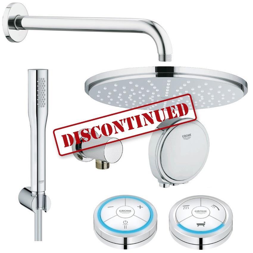 grohe veris f digital rainshower digital bath shower solution pack 1 118332. Black Bedroom Furniture Sets. Home Design Ideas