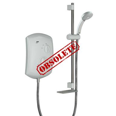 MIRA Jump 10.5kW Retrofit Electric Shower Complete w/ Kit, White/Chrome 1.1693.003