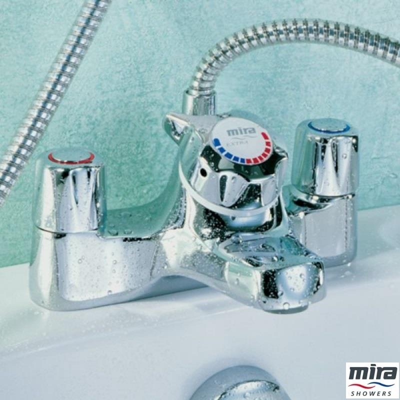 mira extra bsm sequential bath shower mixer kit chrome mira extra thermostatic shower mixer white and chrome