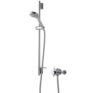 AQUALISA Aspire DL Thermostatic EV Shower Kit, Chrome Plated, ASP001EA