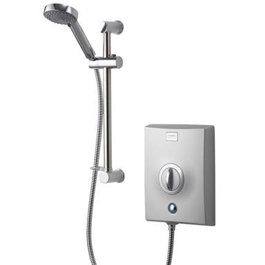 AQUALISA Quartz 8.5kW Electric Shower Complete with Kit, Chrome QZE8501