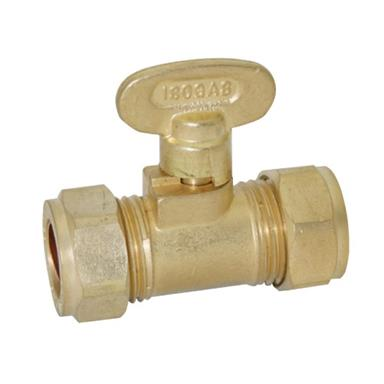 Brass Compression Gas Isolating Valve 15mm, BFGASIV-15