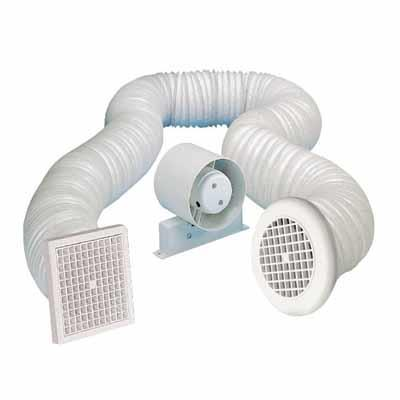 Manrose 100mm Shower In Line Extractor Fanw Timer Kit