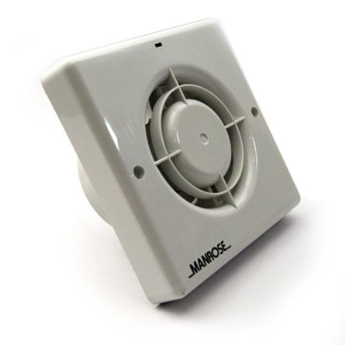 MANROSE 100MM BATHROOM EXTRACTOR FAN W/TIMER+HUMIDISTAT