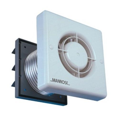 MANROSE 100mm Bathroom Extractor Fan Kit W/Timer