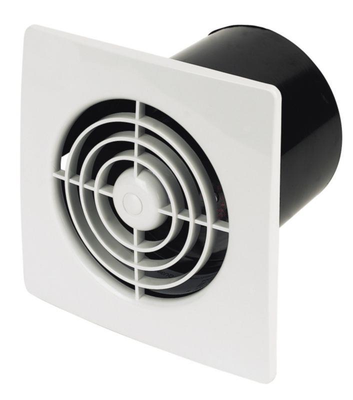 Manrose low profile 12v selv 100mm bathroom extractor fan white for Low profile bathroom exhaust fan
