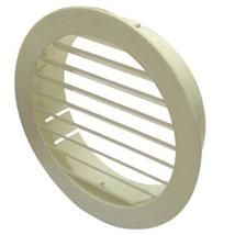 MANROSE EXTERNAL 100MM ROUND LOUVRED GRILLE WHITE