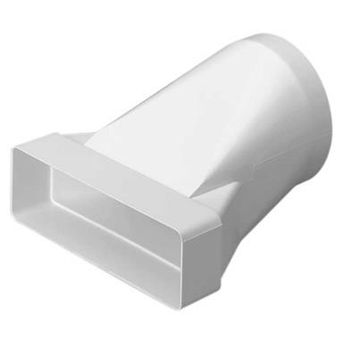 MANROSE 204MMx60MM DUCTING ROUND TO RECTANGULAR ADAPTOR