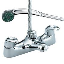 BRISTAN Java Deck Mounted Bath/Shower Mixer w/ Handset Chrome Plated J BSM C