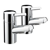 BRISTAN Prism Bath Pillar Taps Chrome Plated Lever Handles Pair PM 3/4 C