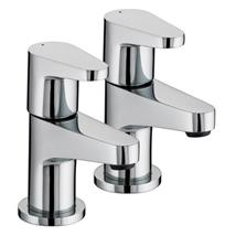 BRISTAN Quest Basin Pillar Taps Chrome Plated Lever Handles Pair QST 1/2 C