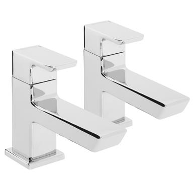 BRISTAN Cobalt Basin Taps Lever Handles, Pair, Chrome Plated, COB 1/2 C